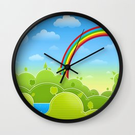 Untrodden Woods Wall Clock