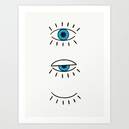 Summer Evil Eyes Art Print