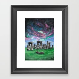 The Druids Turn To Stone Framed Art Print