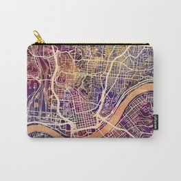 Cincinnati Ohio City Map Carry-All Pouch