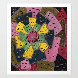 Squareland -flower Art Print