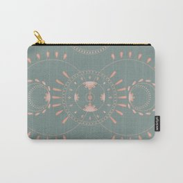 Circles and florals Carry-All Pouch
