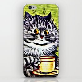 "Louis Wain's Cats ""Kitty On Coffee Break"" iPhone Skin"