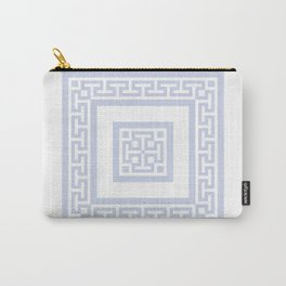 Pale Blue Gray Pattern dd171156 Carry-All Pouch