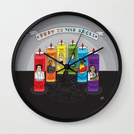 Pray To Your Idols Wall Clock