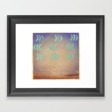 Where the wind blows Framed Art Print