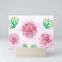 las tres rosas Mini Art Print