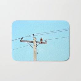 Red Tailed Hawk on Pole Bath Mat