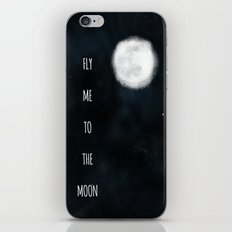 Fly me to the moon. iPhone & iPod Skin