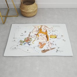 Antique Constellation Map of Hercules Rug