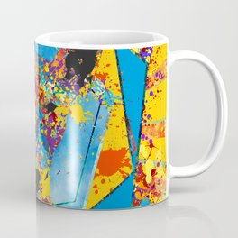 Bull Terrier  - Bully Abstract Mixed Media Coffee Mug