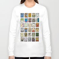 faces Long Sleeve T-shirts featuring Faces by Jason Covert