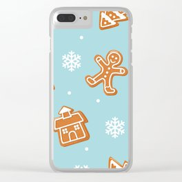 Gingerbread Cookies & Snowflakes Clear iPhone Case