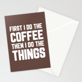 Do The Coffee Funny Quote Stationery Cards