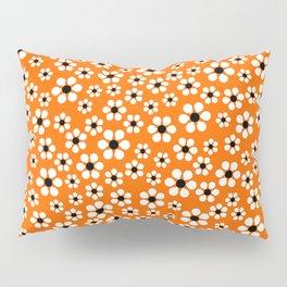 Dizzy Daisies - Orange Pillow Sham