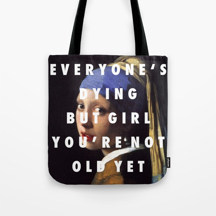 Step With A Pearl Earring Tote Bag