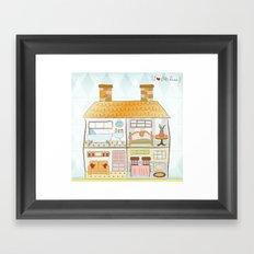 I {❤} Dollhouse Framed Art Print