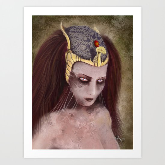 Decaying beauty Art Print