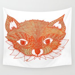 Orange Fox Wall Tapestry