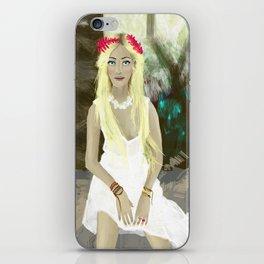 Blonde Girl in Brazil  iPhone Skin