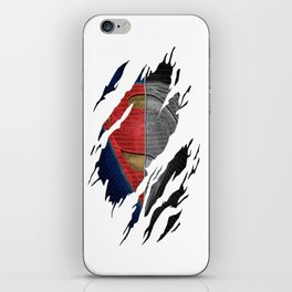 Man of Steel Ripped Symbol iPhone Skin