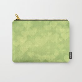 Soft Green Hearts On Light Graduated Background Carry-All Pouch