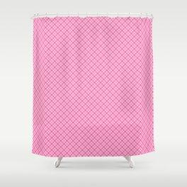 Pastel Pink Plaid Pattern Shower Curtain