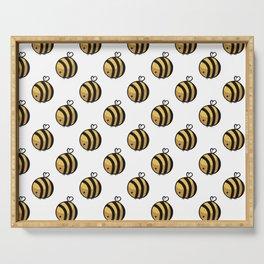 Bee Polka Dot Serving Tray