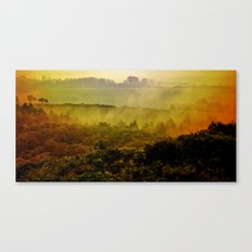 Mist in the hills Canvas Print