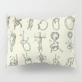 Vintage Knots Chart Pillow Sham
