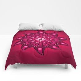 Extreme fushia mandala Comforters