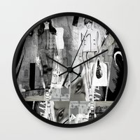 milan Wall Clocks featuring >>> MILAN MIX  by Olive Primo Design + Illustration