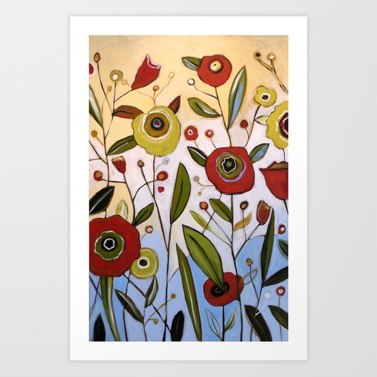 Abstract Floral Art ... FULL OF JOY, by Amy Giacomelli Art Print