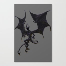 Night Gaunt - Pixel Art Canvas Print