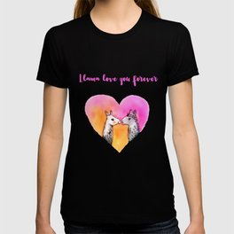 Llama love you forever T-shirt
