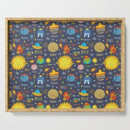 Cute Planets 2 Serving Tray