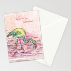 Dare to be different, Flamingo Stationery Cards
