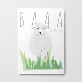 BAAA Humbug Sheep Metal Print