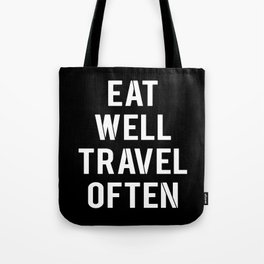 eat & travel Tote Bag
