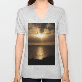 Majorca Sunset Unisex V-Neck