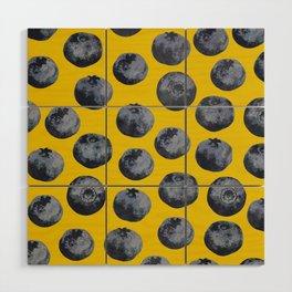 Blueberry pattern Wood Wall Art