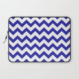 Chevron (Navy & White Pattern) Laptop Sleeve