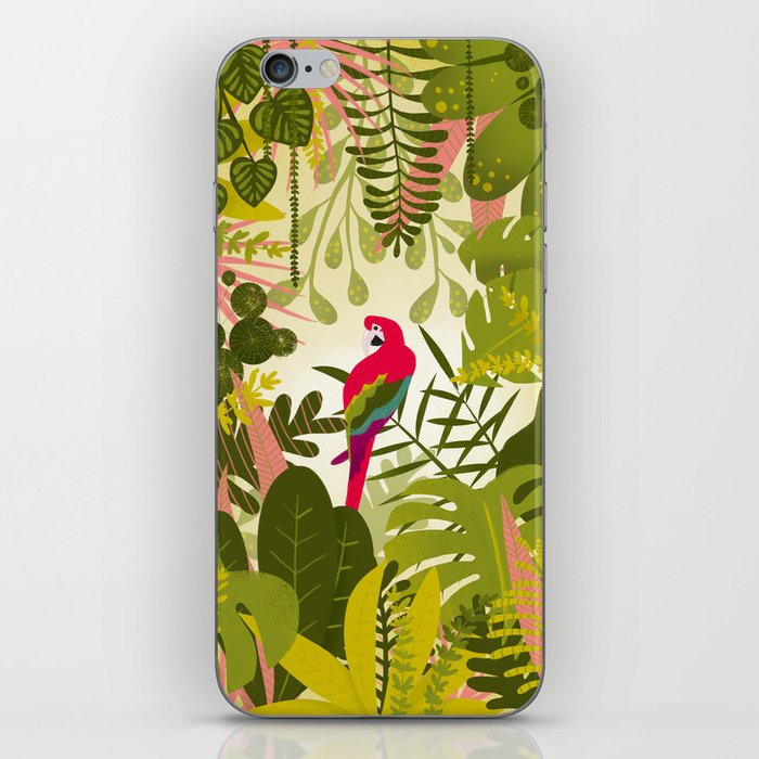 Parrot in the jungle iPhone Skin