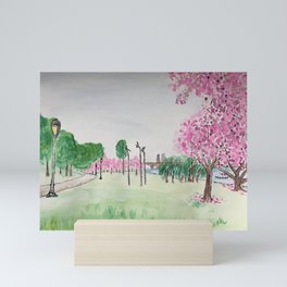 Philly River Trail in Spring Mini Art Print