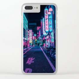A Neon Wonderland called Tokyo Clear iPhone Case