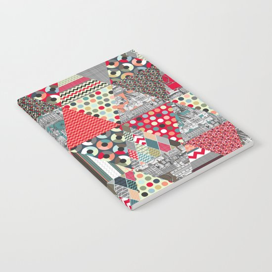 London triangle quilt Notebook
