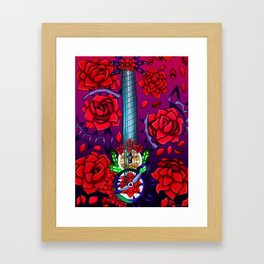 Fusion Keyblade Guitar #185 - No Name & Divine Rose Framed Art Print