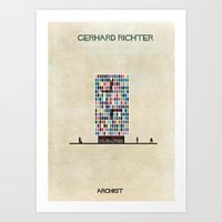 babina Art Prints featuring Gerhard Richter by federico babina