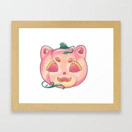 Cat - O - Lantern Framed Art Print