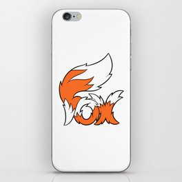 Fox Tail Lettering iPhone Skin